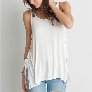 AEO Soft & Sexy Rib Tie Up Tank